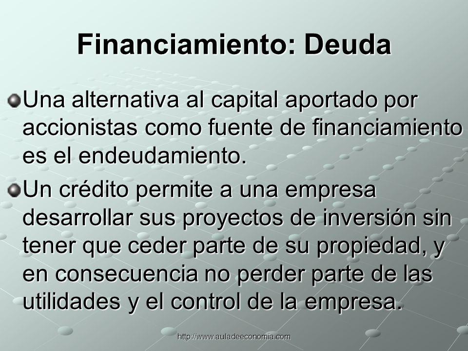 Financiamiento: Deuda