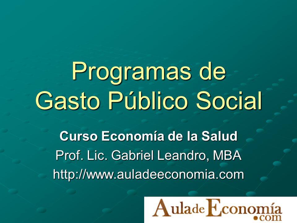 Programas de Gasto Público Social