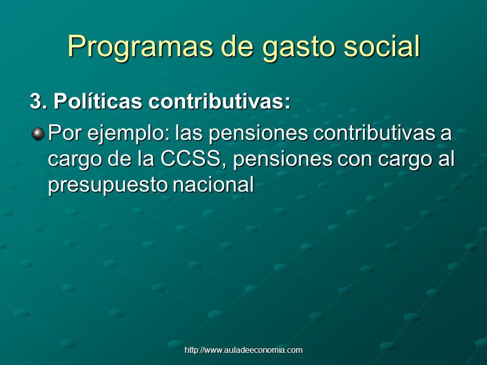 Programas de gasto social
