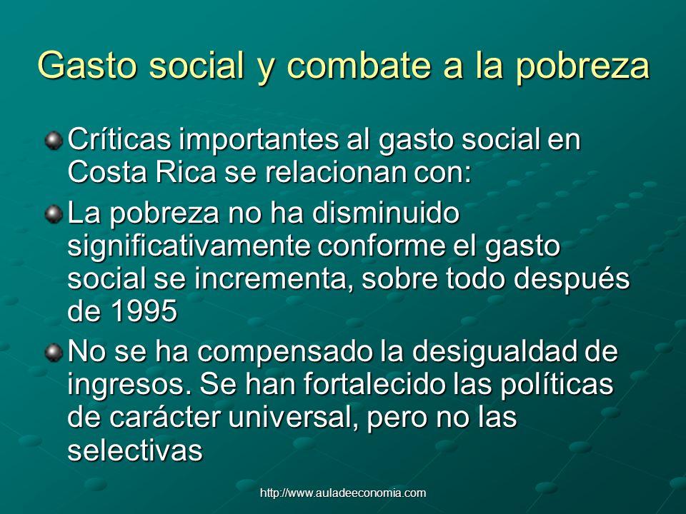 Gasto social y combate a la pobreza