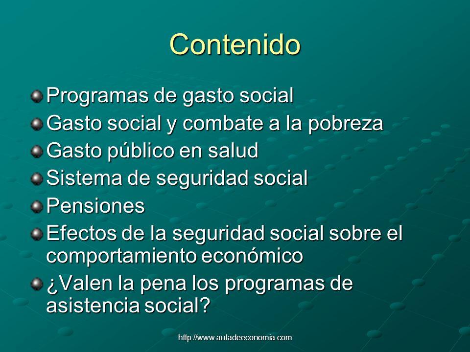 Contenido Programas de gasto social
