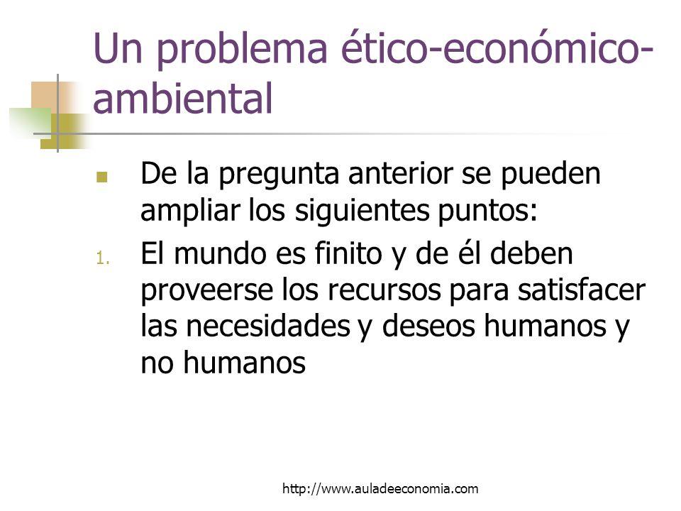 Un problema ético-económico-ambiental