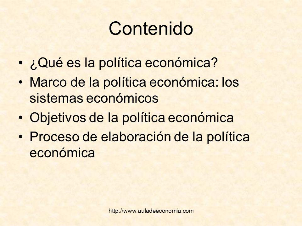 Contenido ¿Qué es la política económica