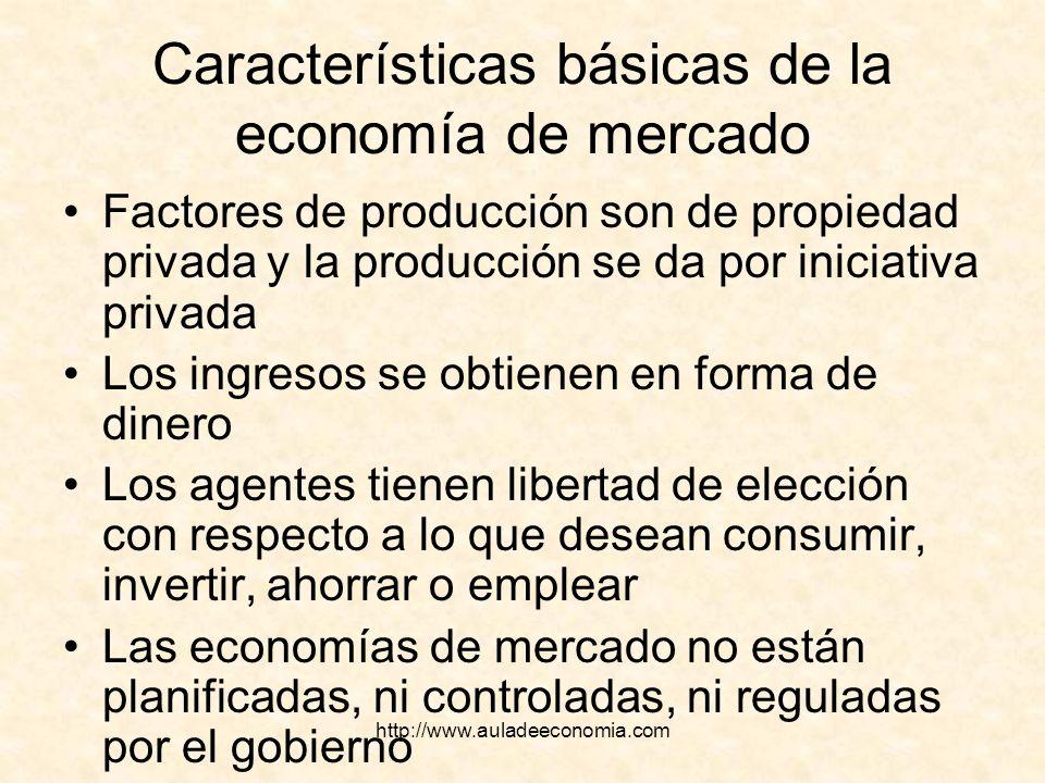 Características básicas de la economía de mercado