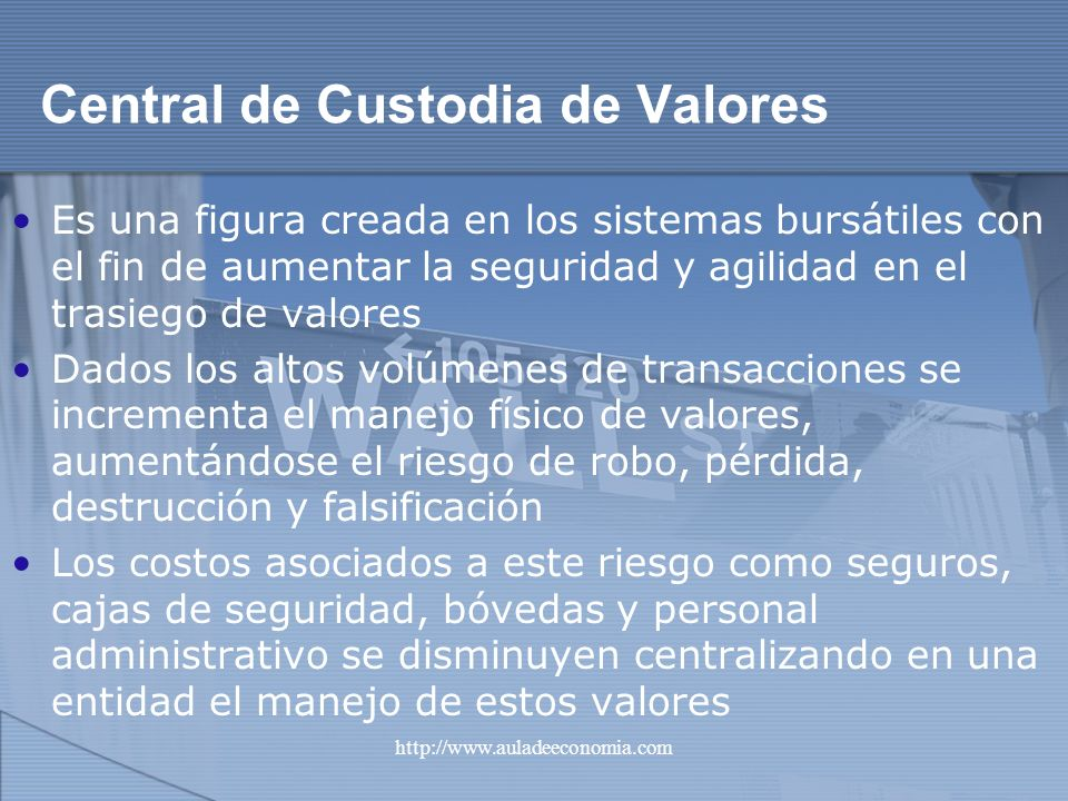 Central de Custodia de Valores