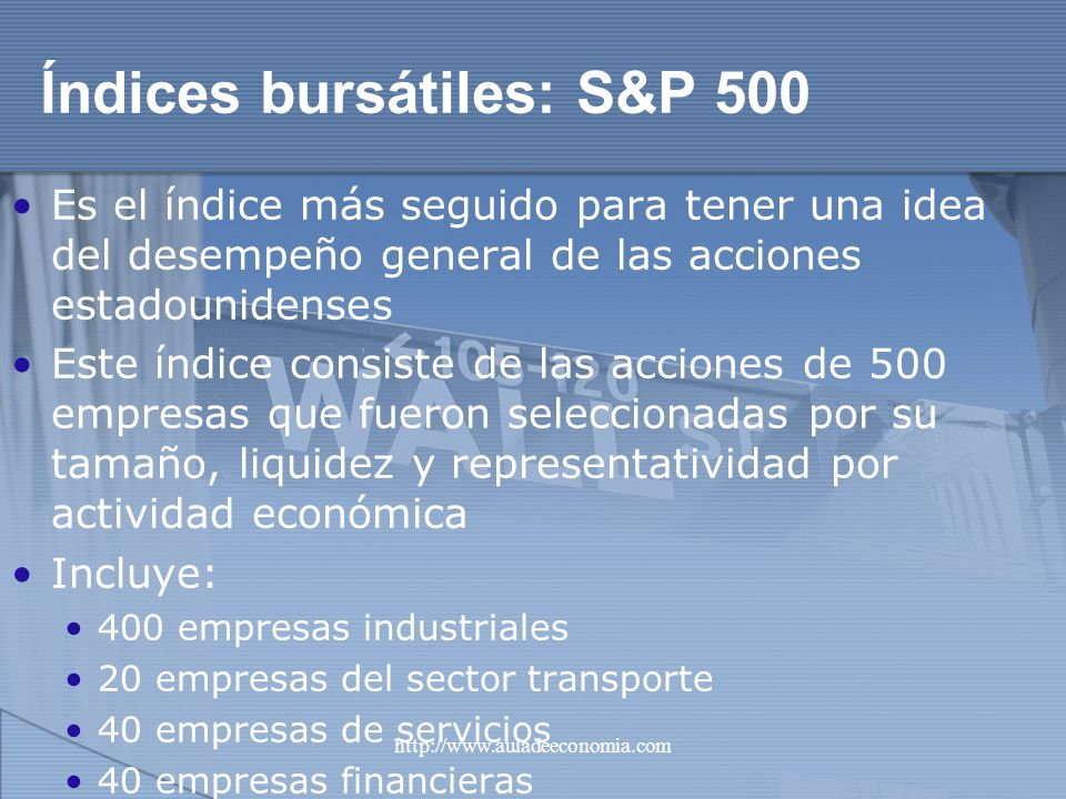 Índices bursátiles: S&P 500