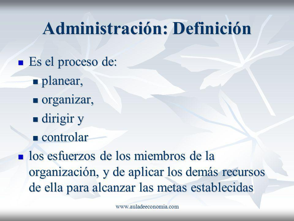 Administración: Definición