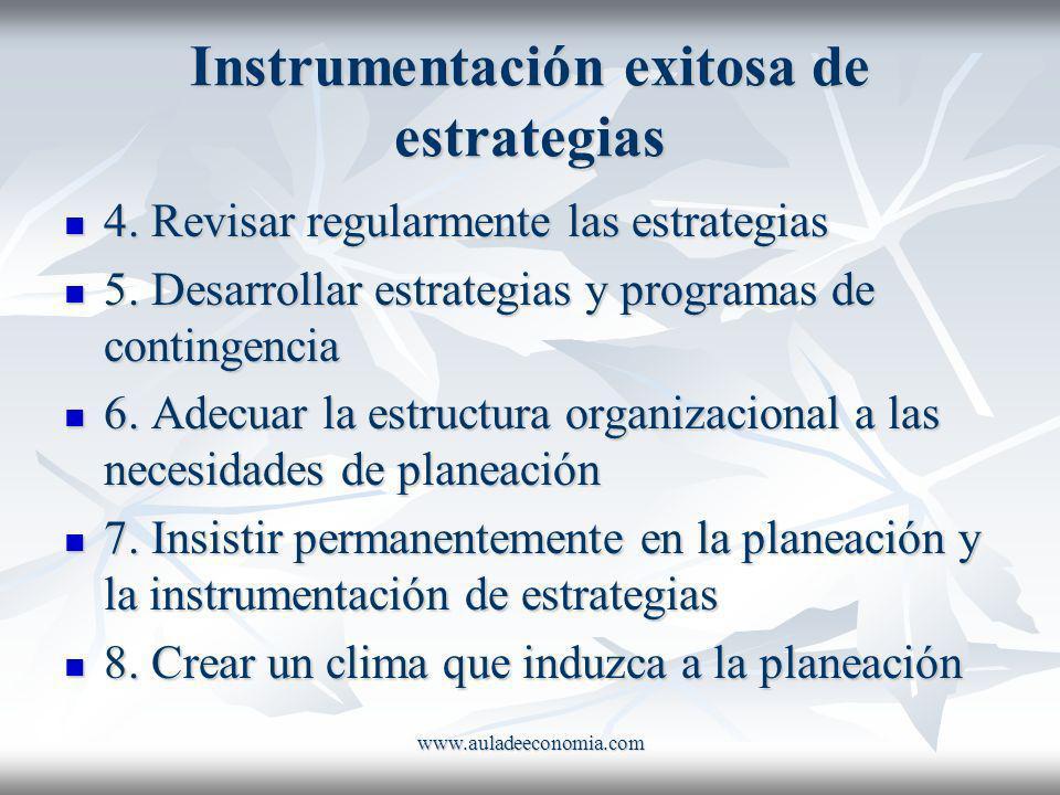 Instrumentación exitosa de estrategias