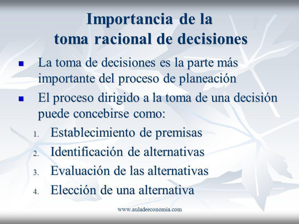 Importancia de la toma racional de decisiones