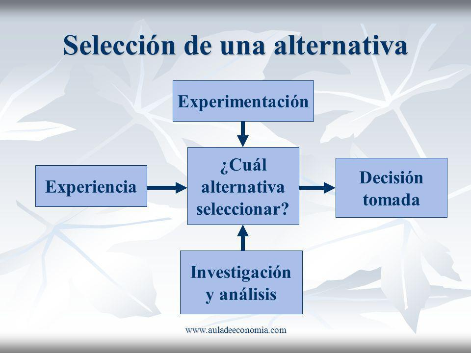 Selección de una alternativa