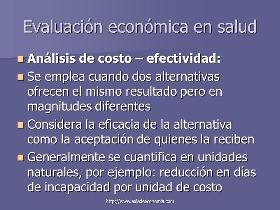 Evaluación económica en salud