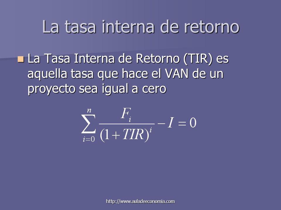 La tasa interna de retorno