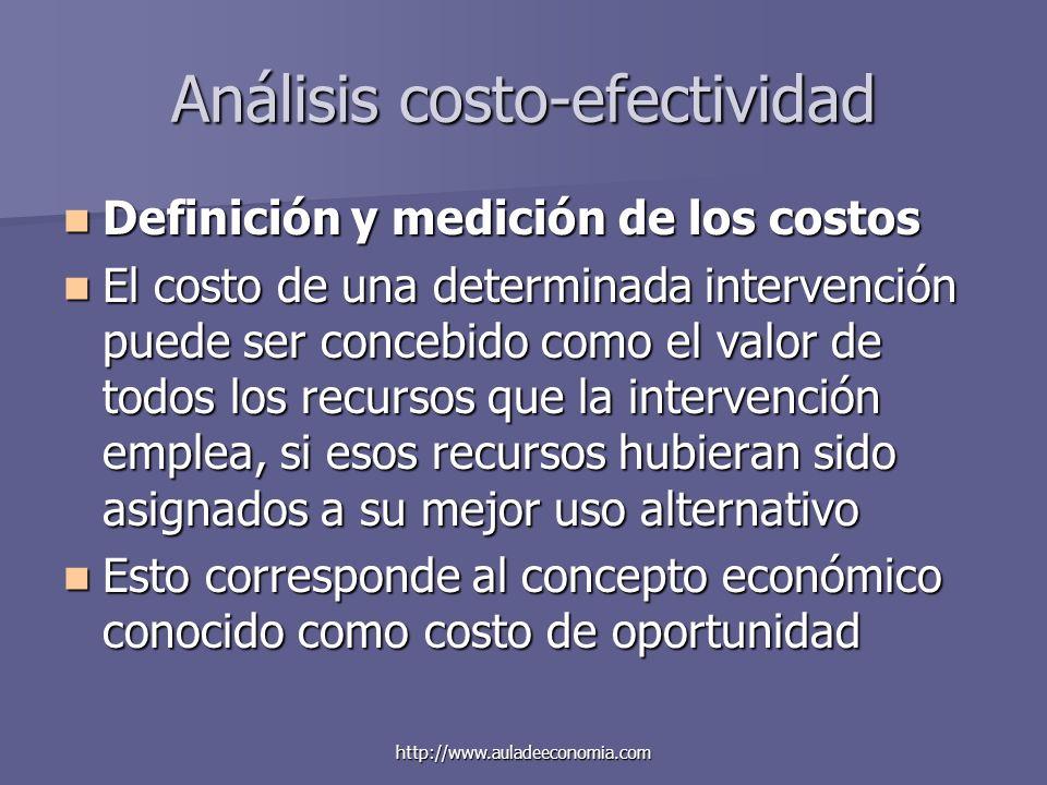 Análisis costo-efectividad
