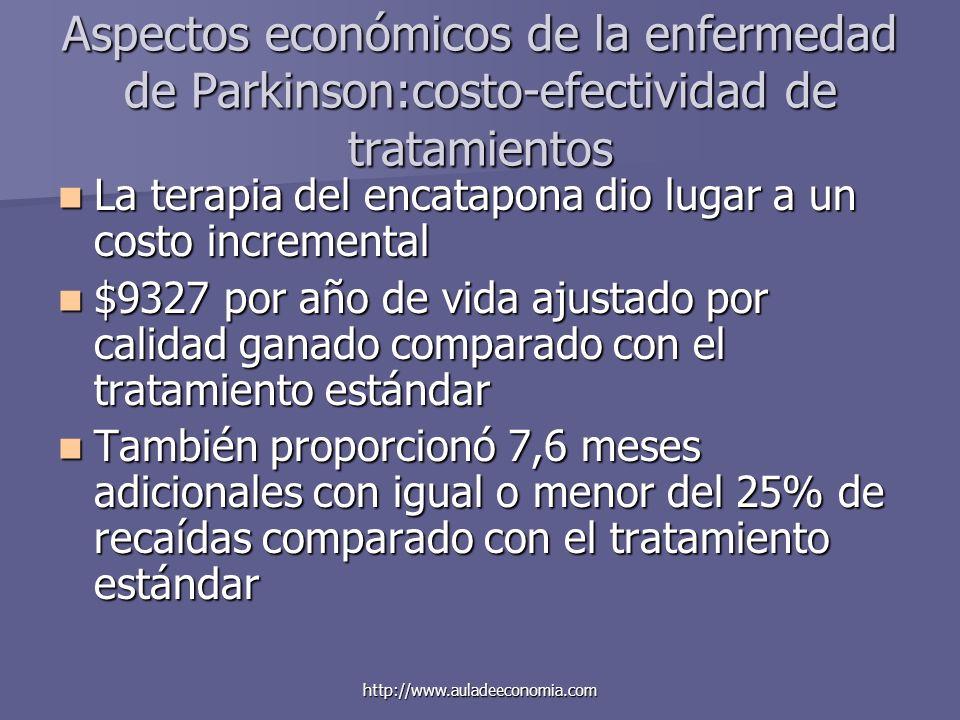 Aspectos económicos de la enfermedad de Parkinson:costo-efectividad de tratamientos