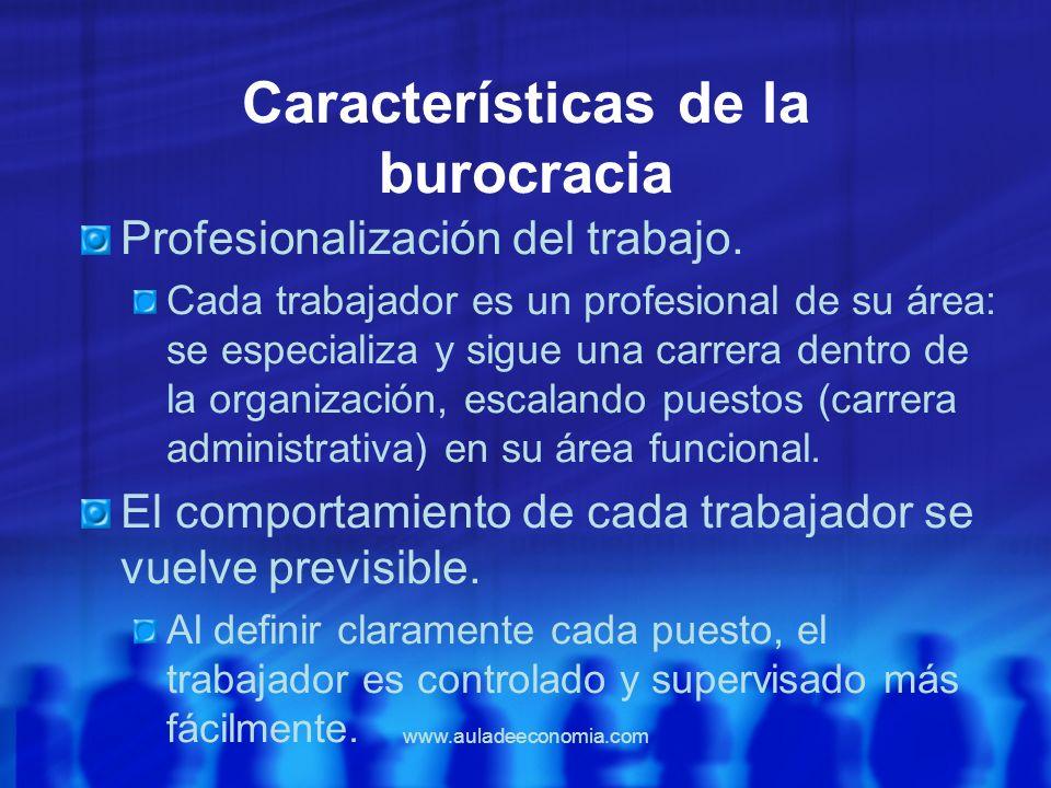 Características de la burocracia