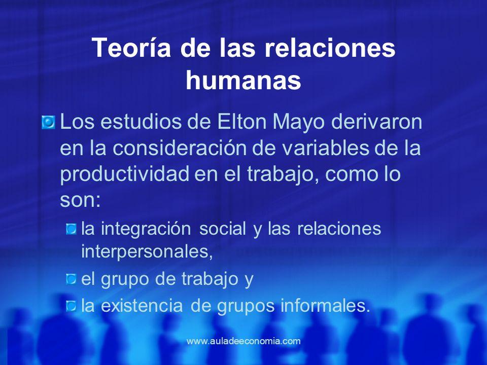 Teoría de las relaciones humanas