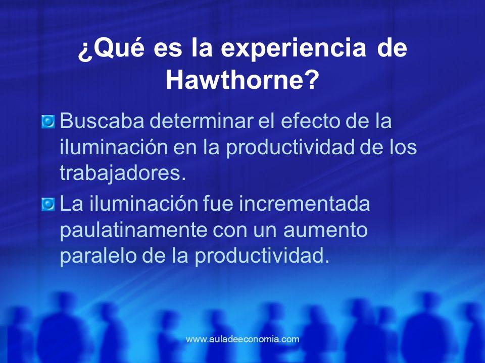 ¿Qué es la experiencia de Hawthorne