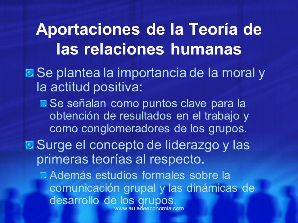 Aportaciones de la Teoría de las relaciones humanas