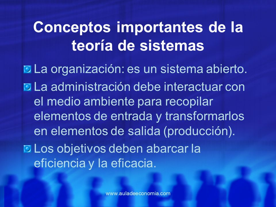 Conceptos importantes de la teoría de sistemas