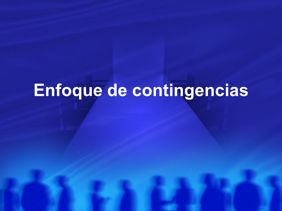 Enfoque de contingencias