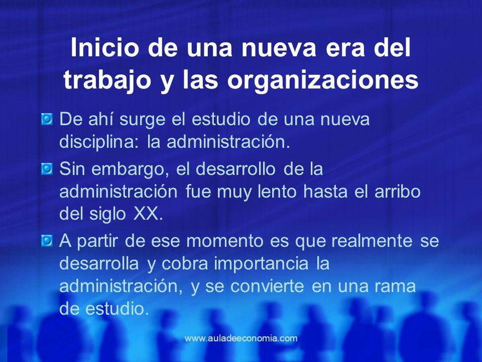 Inicio de una nueva era del trabajo y las organizaciones