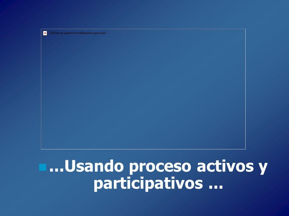 ...Usando proceso activos y participativos ...