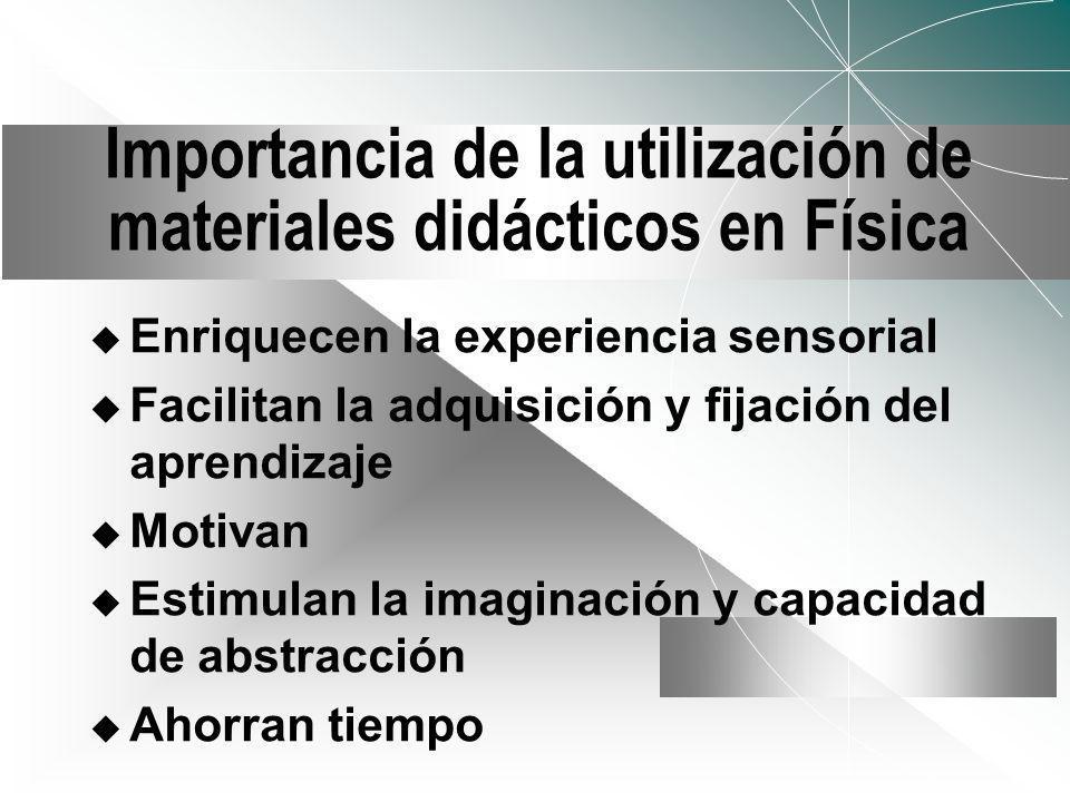 Importancia de la utilización de materiales didácticos en Física