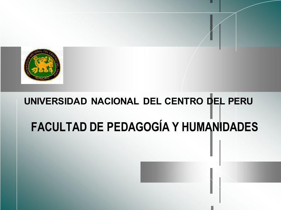 FACULTAD DE PEDAGOGÍA Y HUMANIDADES