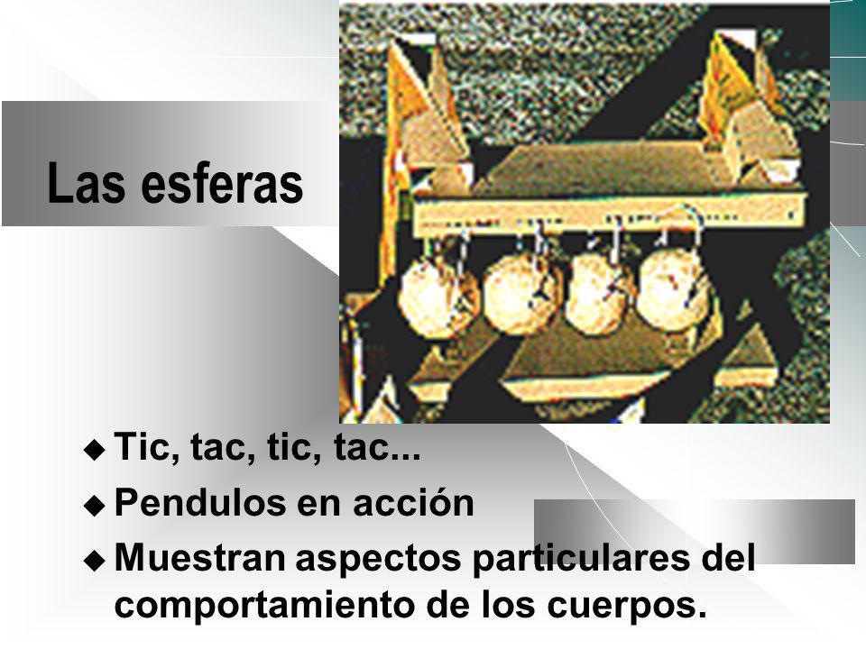 Las esferas Tic, tac, tic, tac... Pendulos en acción