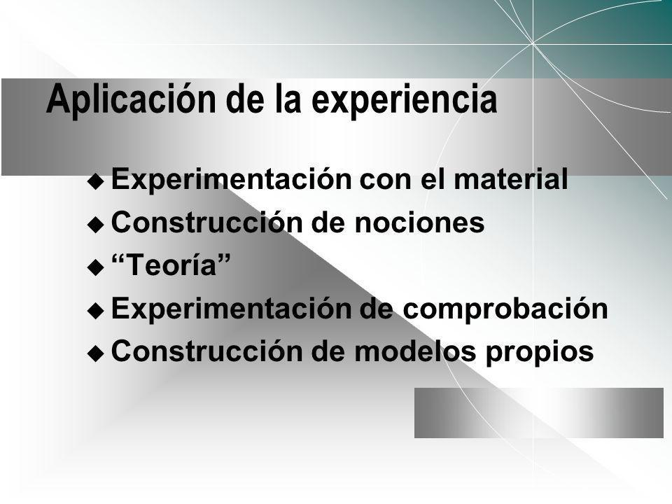 Aplicación de la experiencia