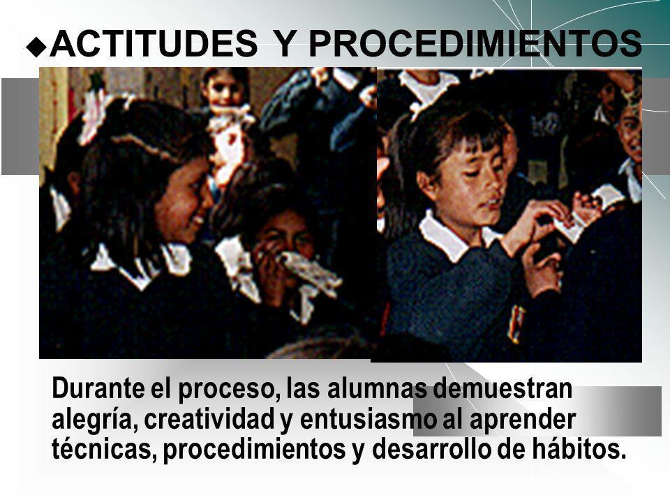 ACTITUDES Y PROCEDIMIENTOS