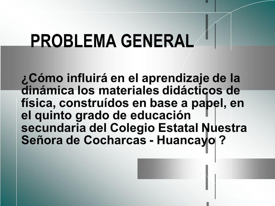 PROBLEMA GENERAL
