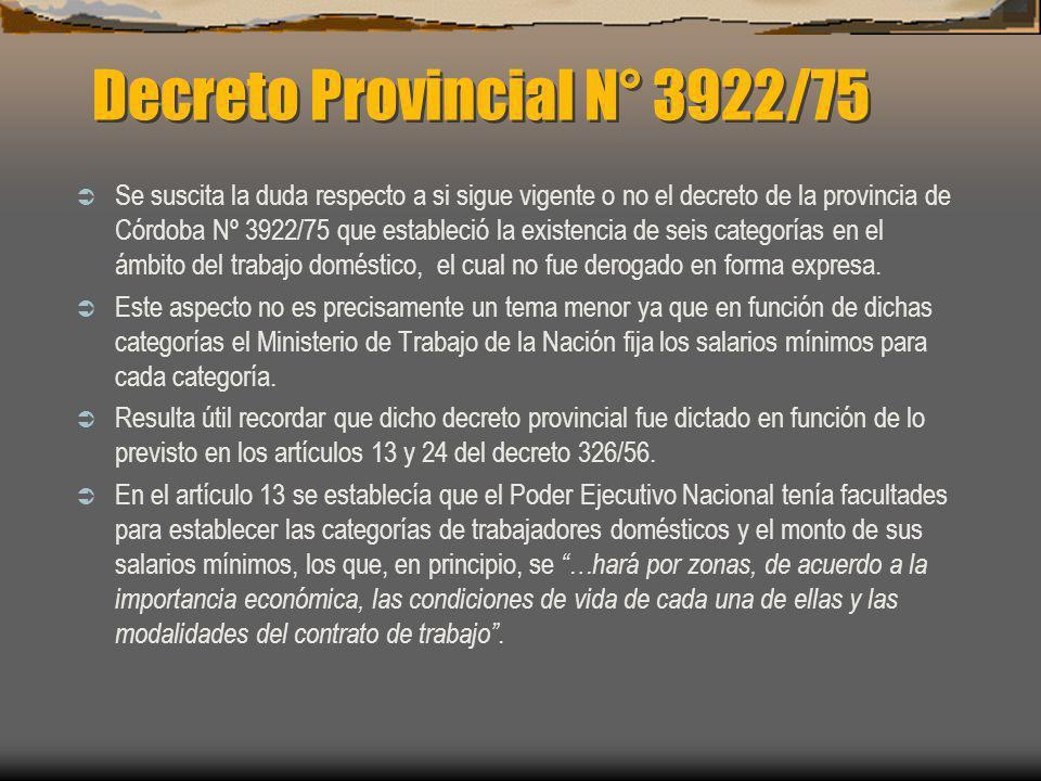 Decreto Provincial N° 3922/75