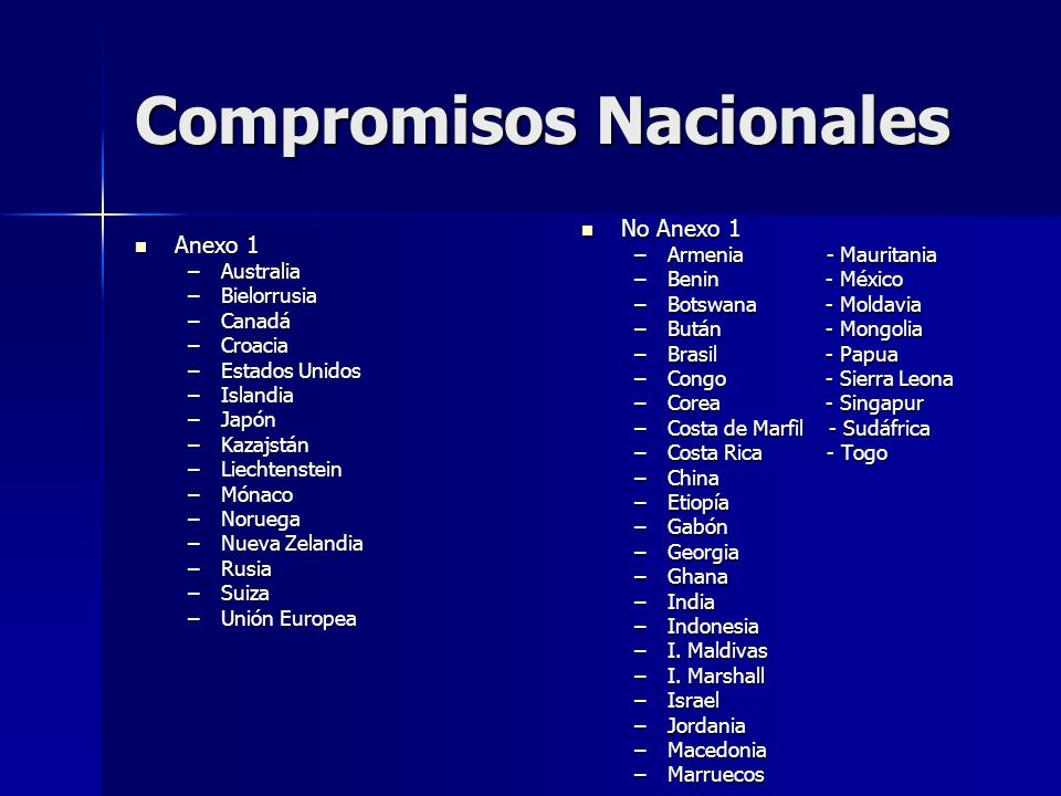 Compromisos Nacionales