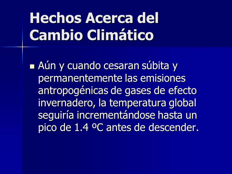 Hechos Acerca del Cambio Climático