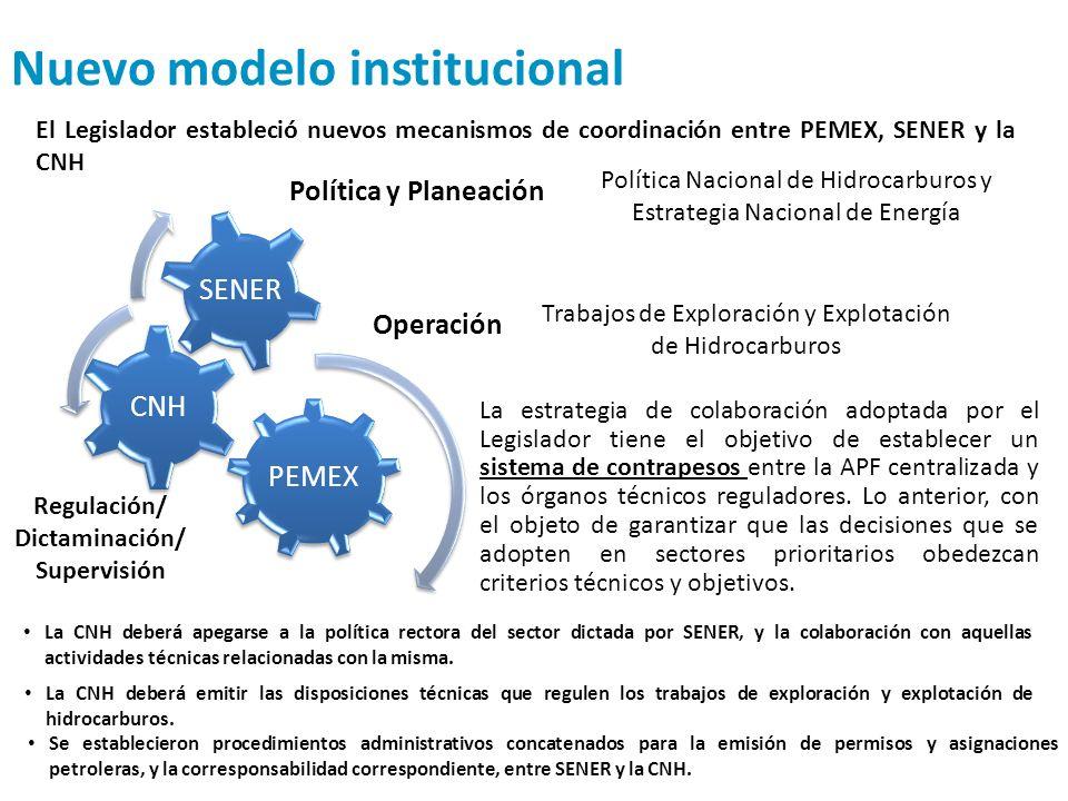 Nuevo modelo institucional