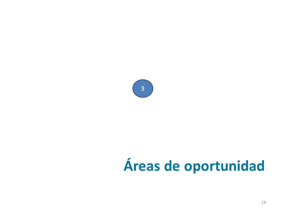 3 Áreas de oportunidad