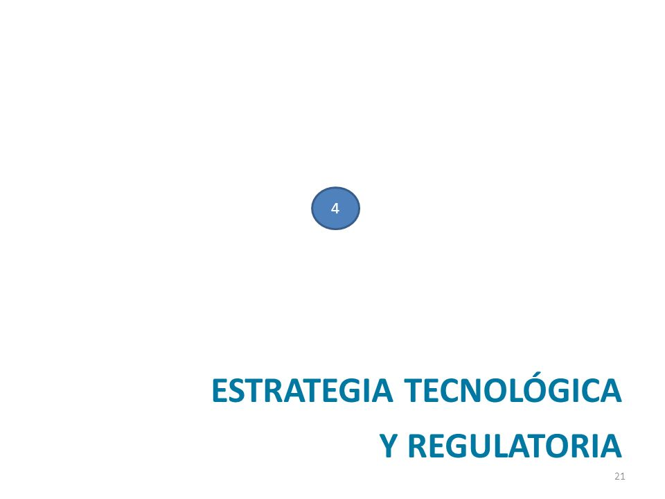 ESTRATEGIA TECNOLÓGICA Y REGULATORIA