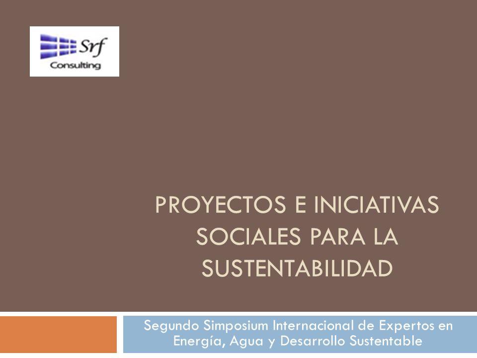 Proyectos e iniciativas sociales para la sustentabilidad