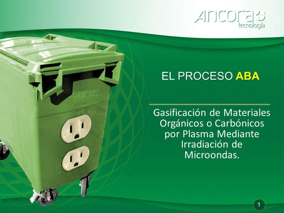 EL PROCESO ABA Gasificación de Materiales Orgánicos o Carbónicos por Plasma Mediante Irradiación de Microondas.