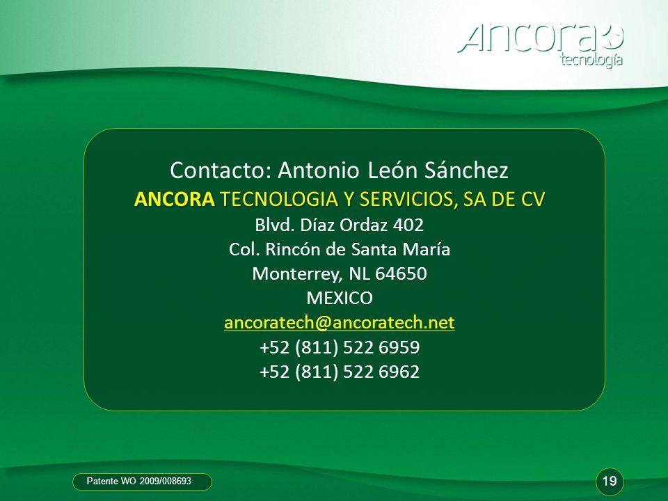 Contacto: Antonio León Sánchez