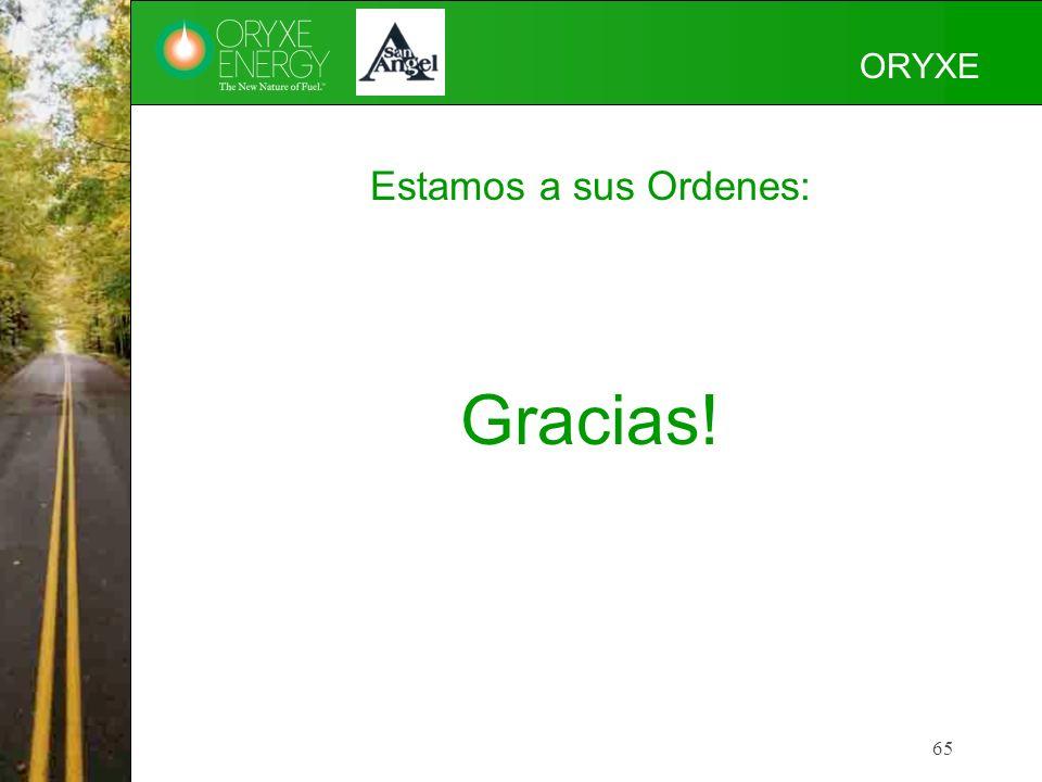 ORYXE Estamos a sus Ordenes: Gracias!