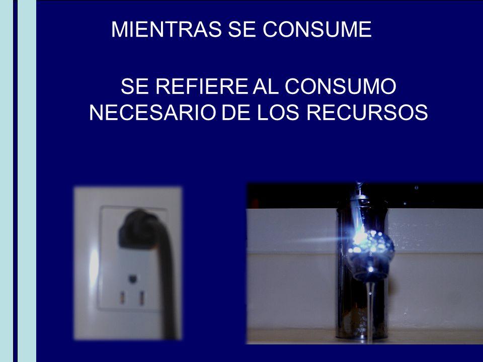 SE REFIERE AL CONSUMO NECESARIO DE LOS RECURSOS