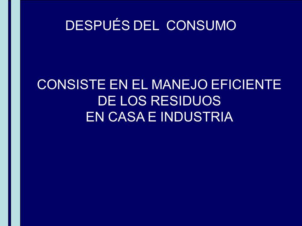 CONSISTE EN EL MANEJO EFICIENTE
