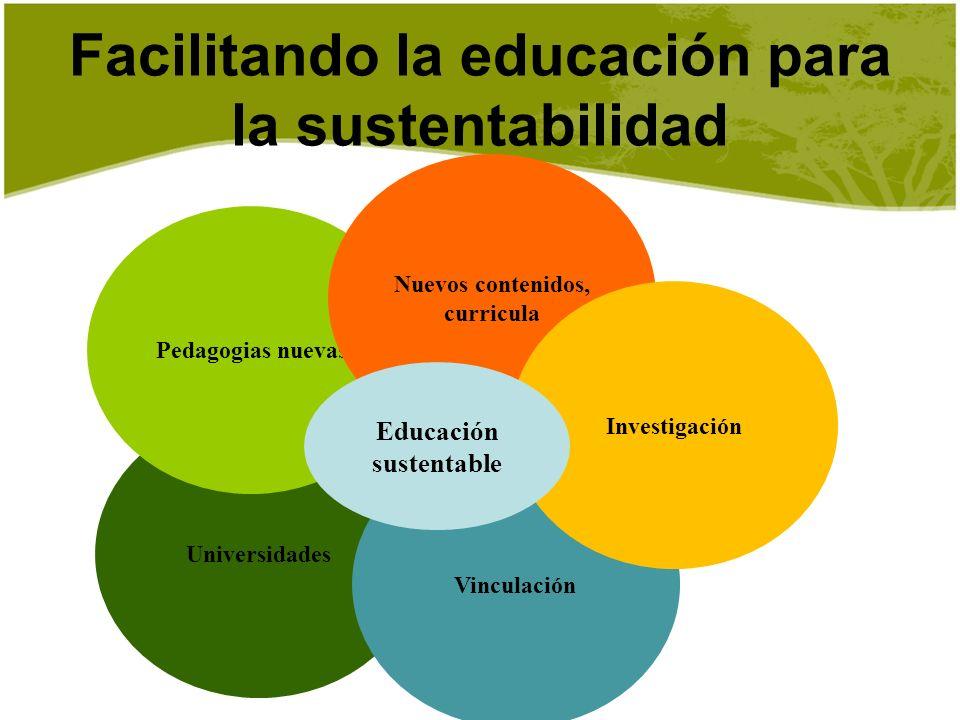 Facilitando la educación para la sustentabilidad