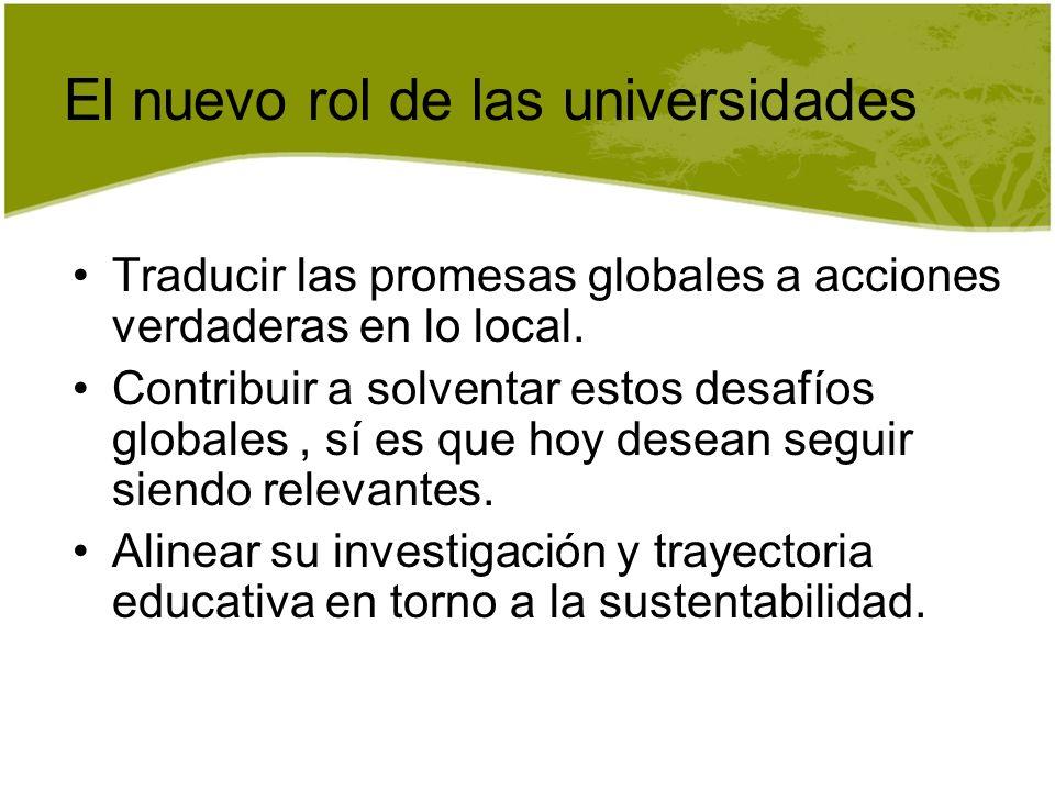 El nuevo rol de las universidades