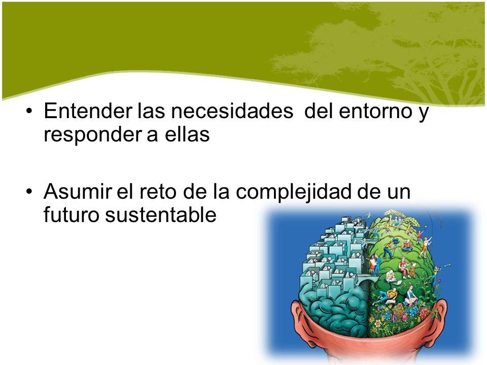 Entender las necesidades del entorno y responder a ellas