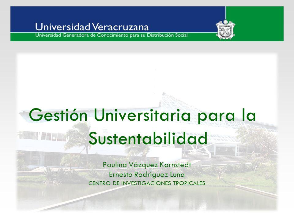 Gestión Universitaria para la Sustentabilidad