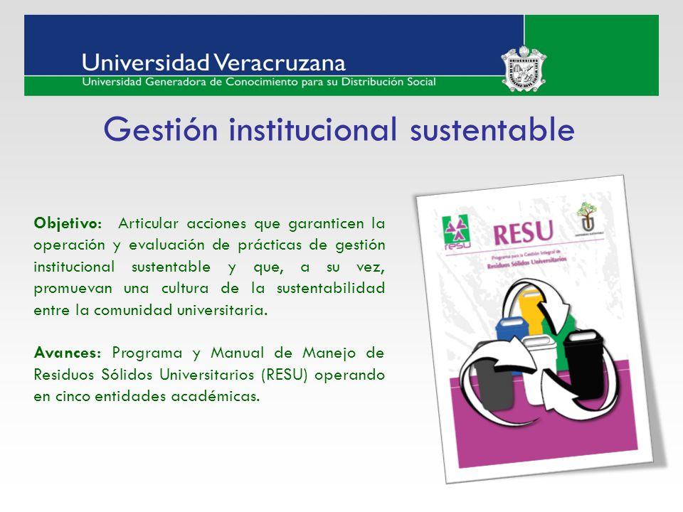 Gestión institucional sustentable