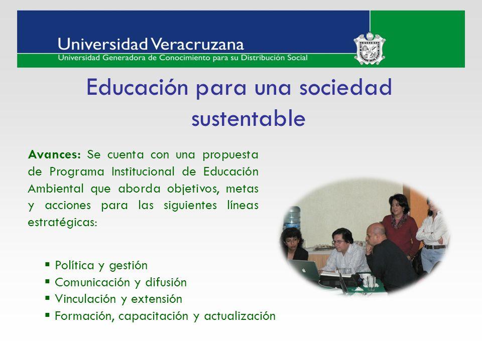 Educación para una sociedad sustentable